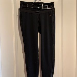 *Old Navy Black Leggings - Zipper and Mesh